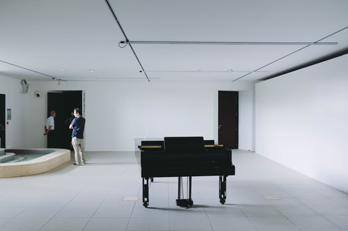 Piano in White Room