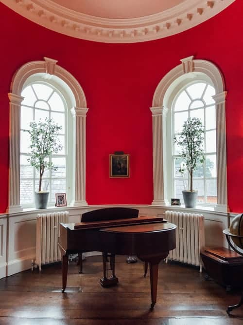 Grand Piano in Red Room