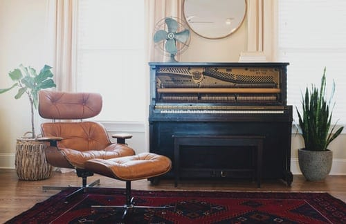 Upright Piano in Study